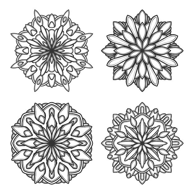 Mandala-vektor-logo-symbol-illustration Premium Vektoren