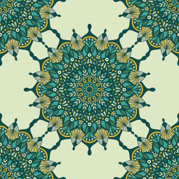 Mandala vintage design für den druck. stammes-ornament. Premium Vektoren
