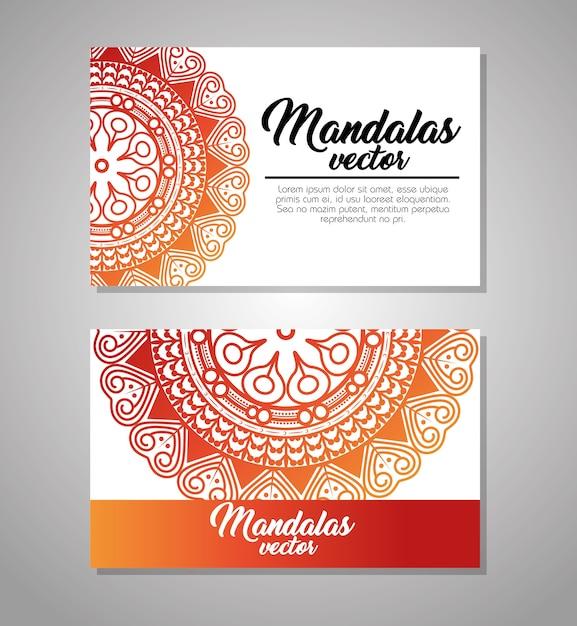 Mandala vintage vorlage vektor illustration grafik-design Premium Vektoren