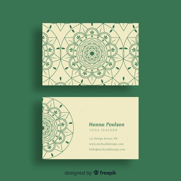Mandala Visitenkarte Vorlage Kostenlose Vektor