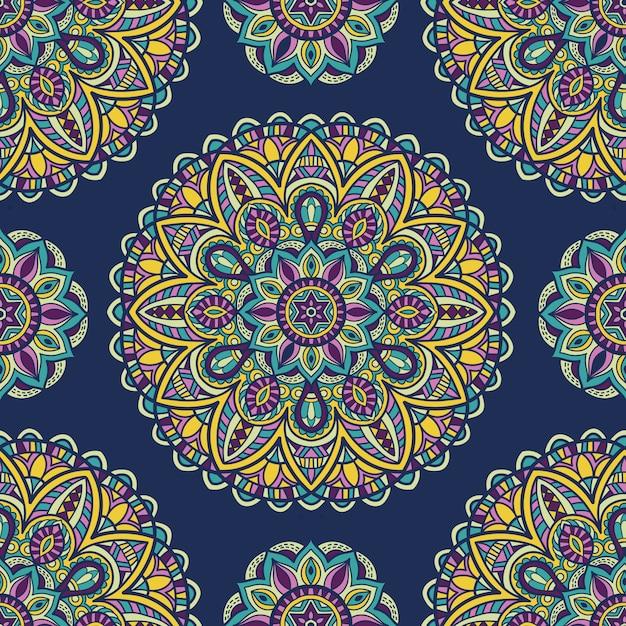 Mandala zum drucken. stammes-ornament. Premium Vektoren