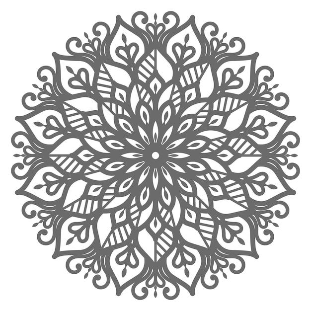 Mandalaillustration des ethnischen orientalischen stils für die dekoration Premium Vektoren