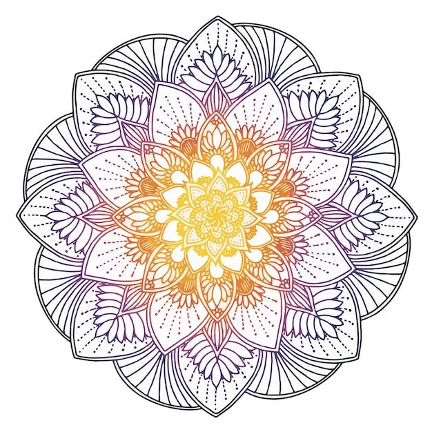 Mandalamalbuch, orientalische therapie Premium Vektoren