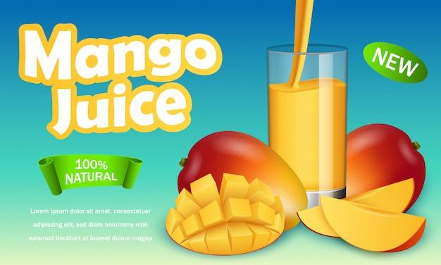 Mango-banner Premium Vektoren