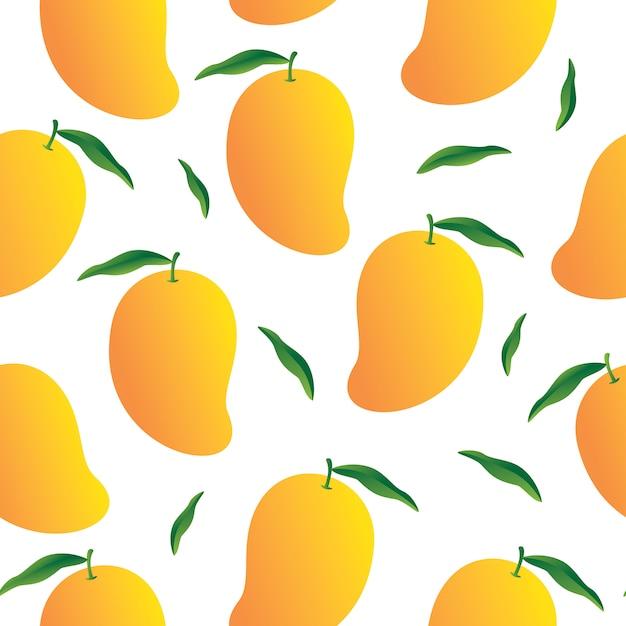 Mango-hintergrundmuster Premium Vektoren
