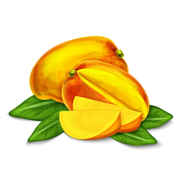Mango lokalisierte illustration Kostenlosen Vektoren