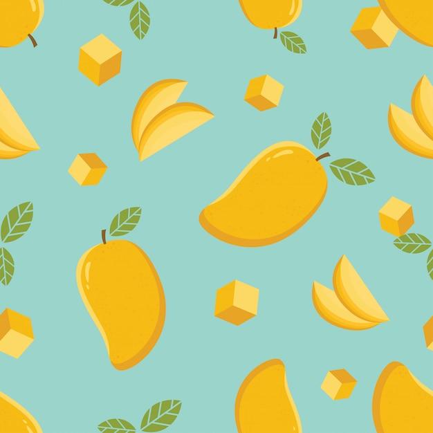 Mango nahtlose muster Premium Vektoren
