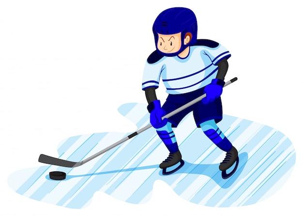Mann, der eishockey spielt Kostenlosen Vektoren