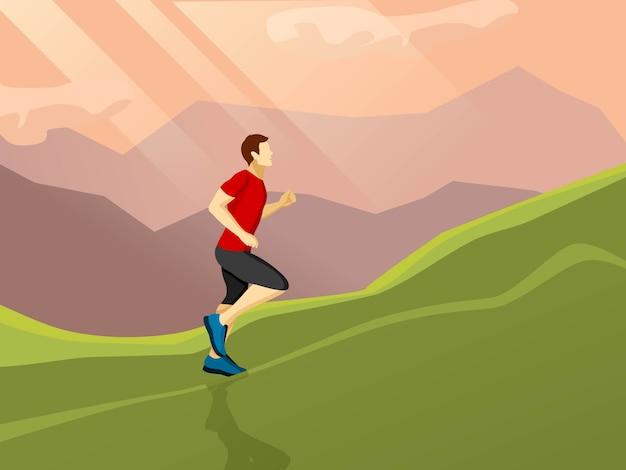Mann läuft flach symbol Kostenlosen Vektoren