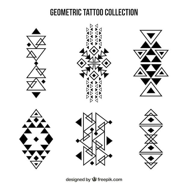 Maori geometrische tattoo-kollektion Kostenlosen Vektoren