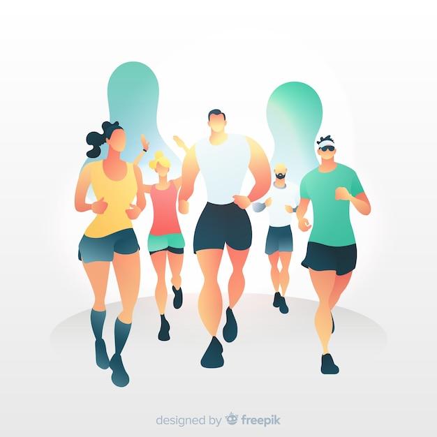 Marathon rennen Kostenlosen Vektoren