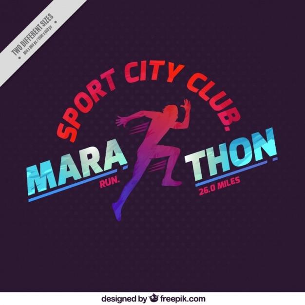 Marathon sport city club hintergrund Kostenlosen Vektoren