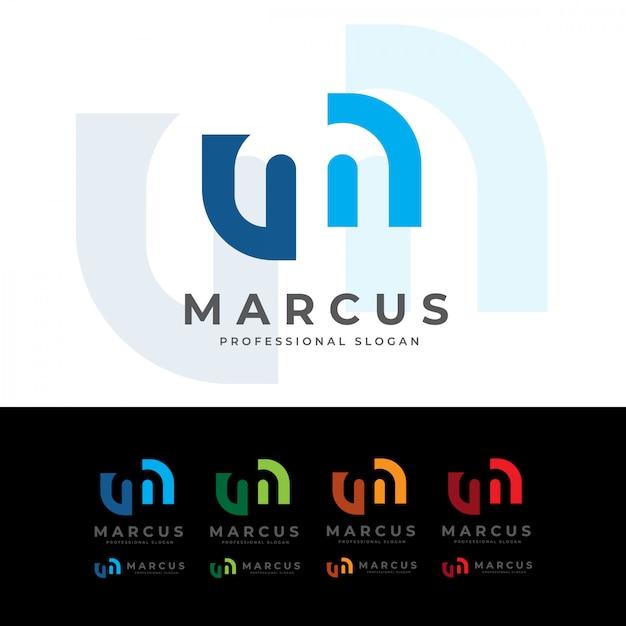 Marcus m brief logo Premium Vektoren