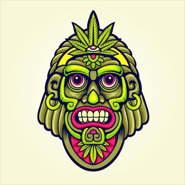 Marihuana chef maskottchen Premium Vektoren