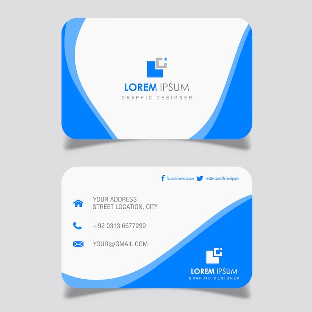 Marineblaue Gewellte Visitenkarte Entwirft Download Der