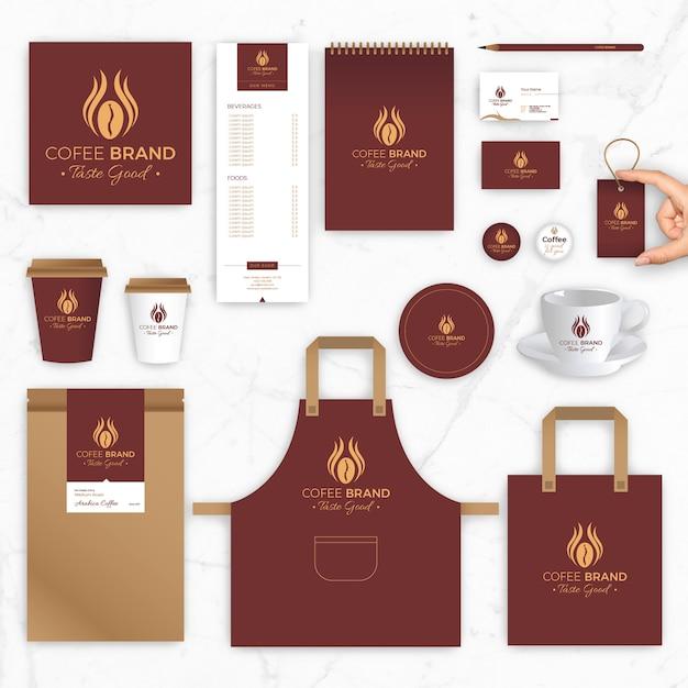 Marke Identity Vector Vorlagen für Kaffee Marke und Café   Download ...