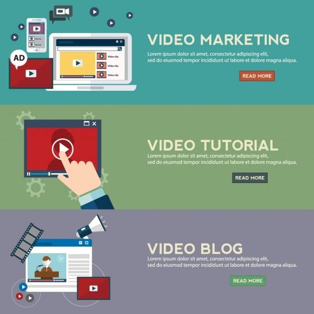 Marketing-banner-sammlung Kostenlosen Vektoren