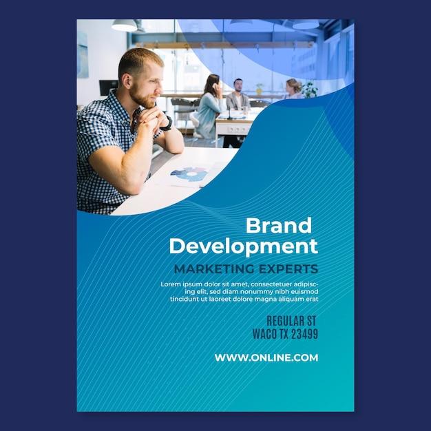Marketing business flyer vorlage Kostenlosen Vektoren