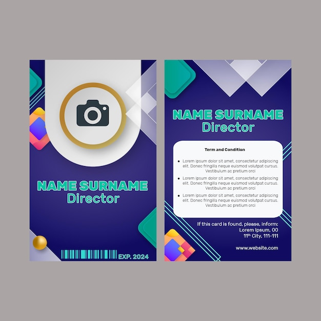 Marketing business id card vorlage Premium Vektoren