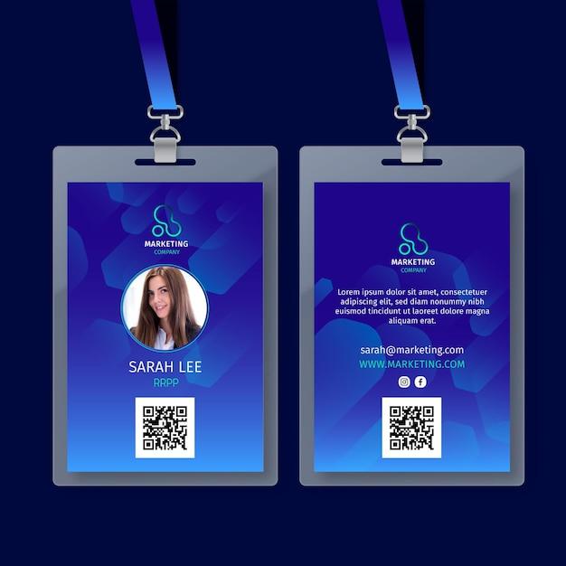 Marketing business id card vorlage Kostenlosen Vektoren