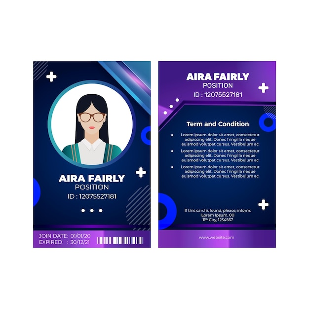Marketing business id card vorlage Kostenlosen Vektoren