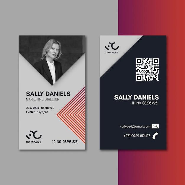 Marketing business id-karte Kostenlosen Vektoren