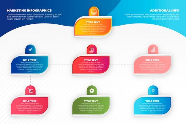 Marketing-infografiken-konzept Premium Vektoren