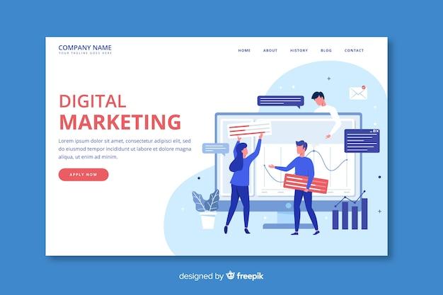 Marketing-konzept-landingpage-vorlage Kostenlosen Vektoren
