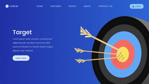 Marketing-service-landing-page-vorlage Premium Vektoren
