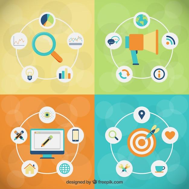 Marketing ziel Kostenlosen Vektoren