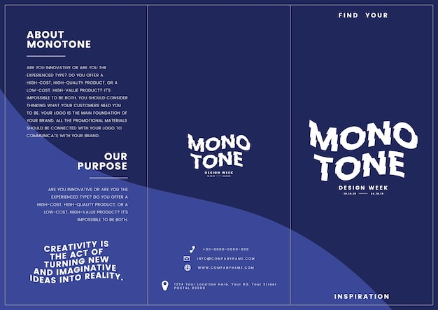 Marketingmaterial: broschürenvorlage Kostenlosen Vektoren