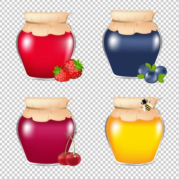 Marmeladenglas Premium Vektoren