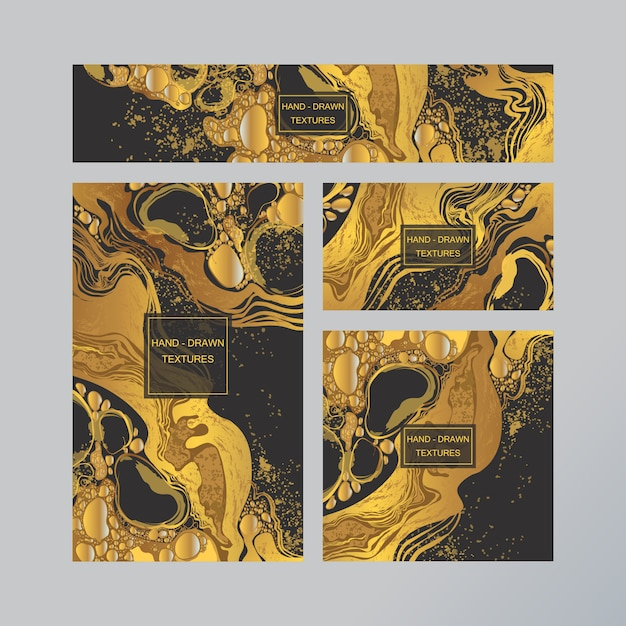 Marmor abstrakte visitenkarte Premium Vektoren