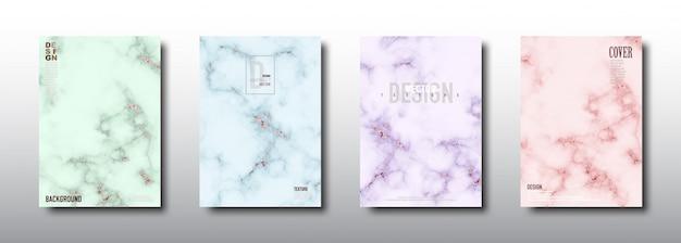 Marmor mit rosagoldfolienbeschaffenheit Premium Vektoren