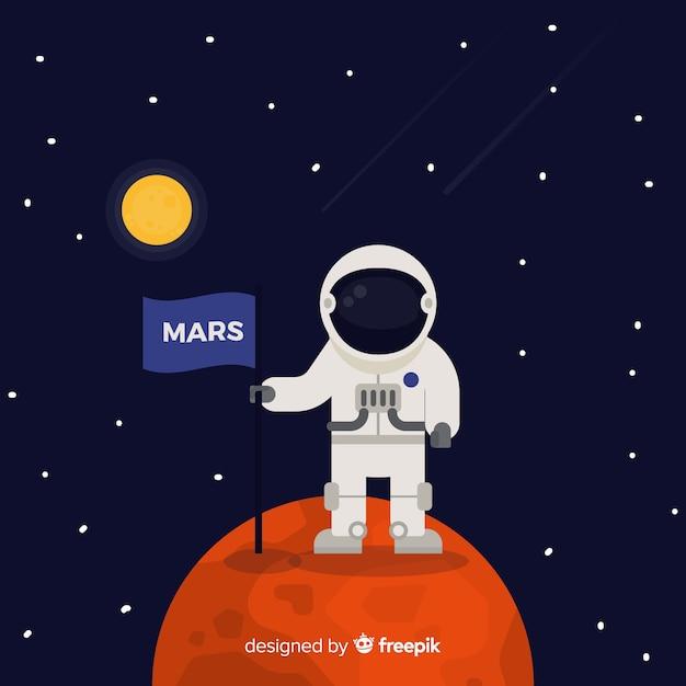Mars hintergrund Kostenlosen Vektoren