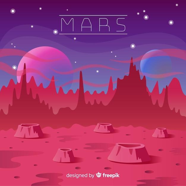Mars landschaft hintergrund Kostenlosen Vektoren