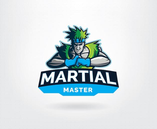 Martial art master sport logo vorlage Premium Vektoren