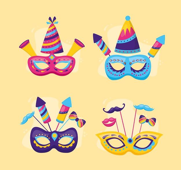 Masken karneval festlich Kostenlosen Vektoren