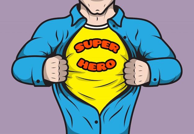 Maskierter comic-superheld Kostenlosen Vektoren