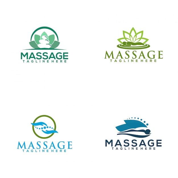 Massage-logo Premium Vektoren