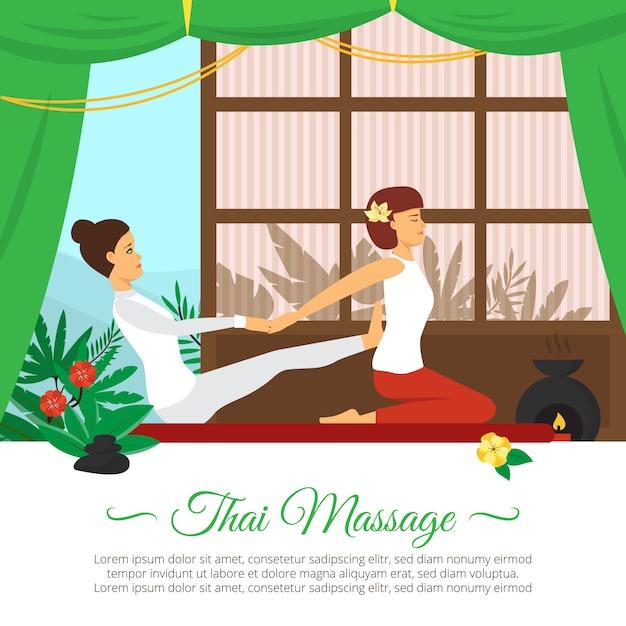 Massage und gesundheitswesen illustration Kostenlosen Vektoren