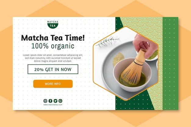 Matcha tee banner Kostenlosen Vektoren