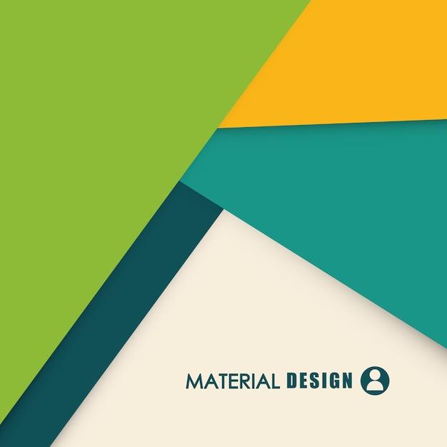 Materielles konzept mit abstraktem ikonendesign, grafik der vektorillustration 10 env. Premium Vektoren