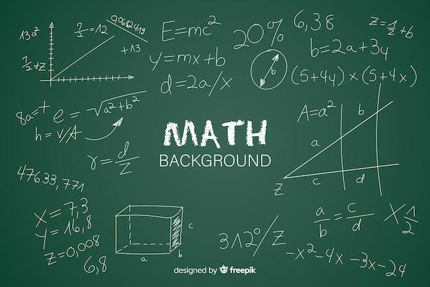 Mathe realistische tafel hintergrund Kostenlosen Vektoren