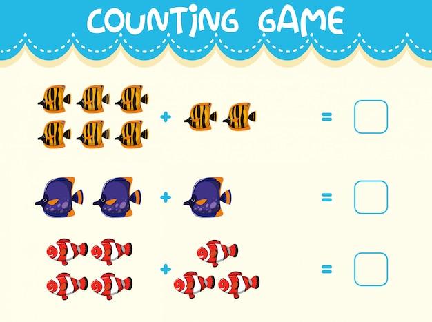 Mathe zählen spielvorlage Premium Vektoren