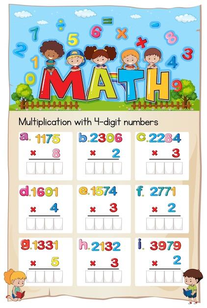 Mathematik Arbeitsblatt Multiplikationsnummer Kapitel | Download der ...