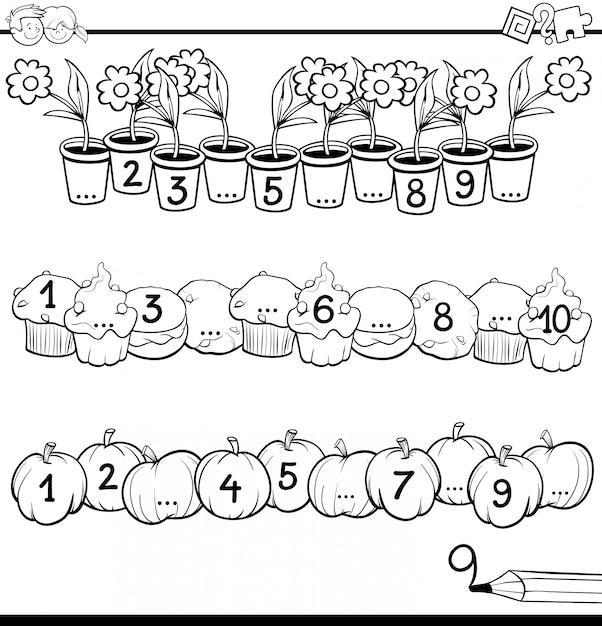 Mathematische lernaktivität für kinder Premium Vektoren