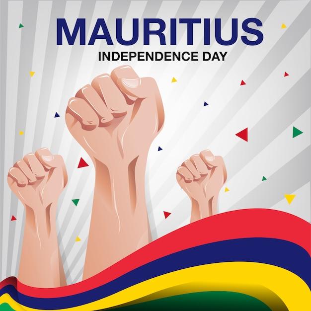 Mauritius-unabhängigkeitstag-hintergrund Premium Vektoren