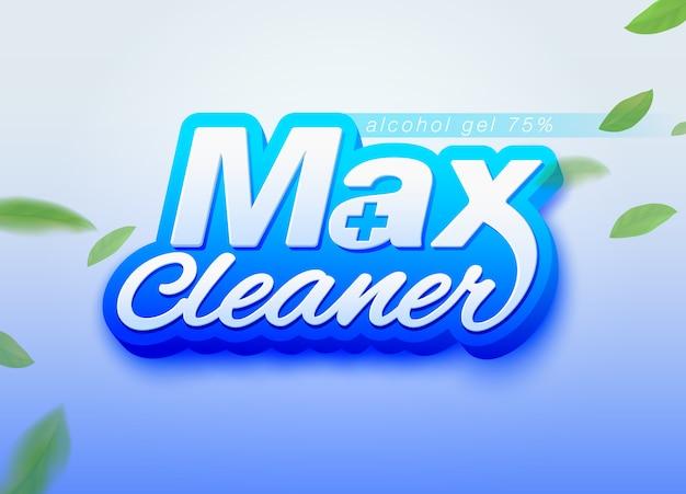 Max cleaner alkohol gel design vorlage für die verpackung. wird als alkoholgel, handwaschgel, desinfektionsmittel und reinigungsmittel verwendet. Premium Vektoren