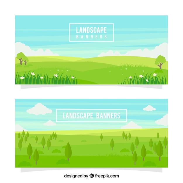 Meadows banner Kostenlosen Vektoren